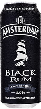 Bière Amsterdam Black Rum en cannette de 50 cl - 8° d'alcool